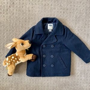 Toddler Boy Wool Peacoat Size 2T Classic Navy